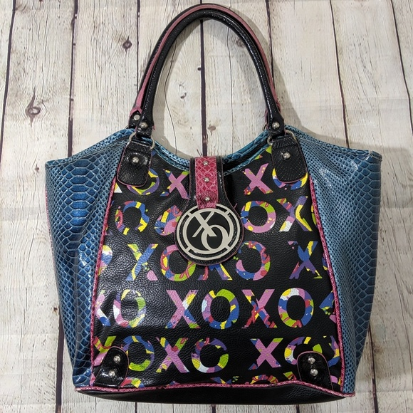 XOXO Handbags - XOXO Multicolored Faux Snakeskin Purse